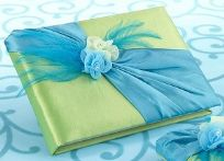 Blue And Green Wedding Guest Book